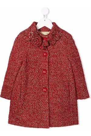 MONNALISA Tweed buttoned coat