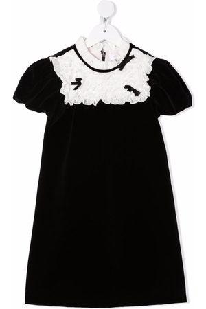 Monnalisa Girls Casual Dresses - Contrasting-bib midi dress