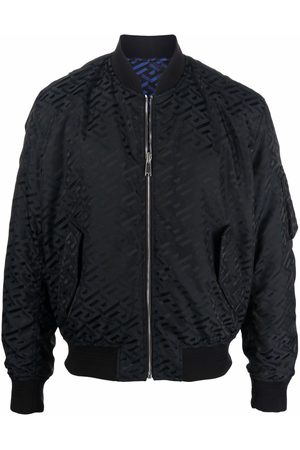 VERSACE La Greca pattern bomber jacket