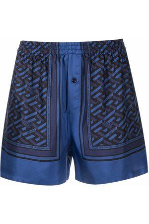 Versace La Greca pattern sleepwear shorts