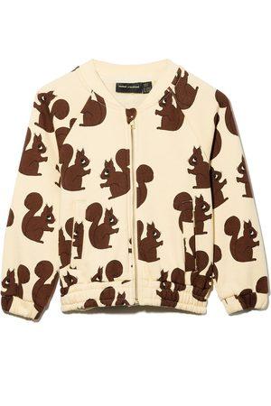 Mini Rodini Girls Bomber Jackets - Squirrel-print bomber jacket