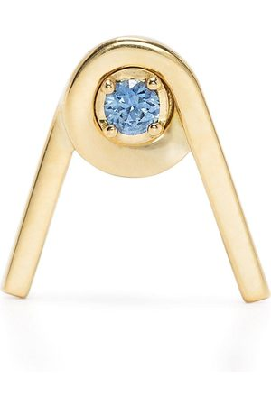 AHKAH 18kt yellow spring blue sapphire stud earring
