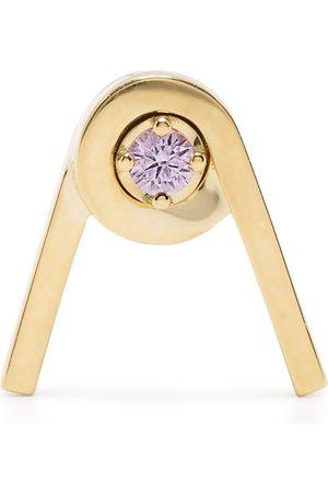 AHKAH 18kt yellow spring pink sapphire stud earring