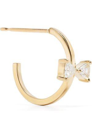 AHKAH 18kt yellow cerf-volant diamond hoop earring
