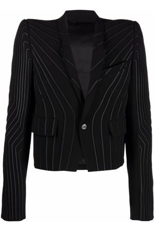 Rick Owens Men Blazers - Striped single-breasted blazer