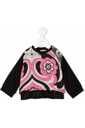 Emilio Pucci Junior Hoodies - Abstract-Print jacquard sweatshirt