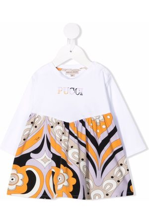 Emilio Pucci Baby Printed Dresses - Abstract-Print logo dress