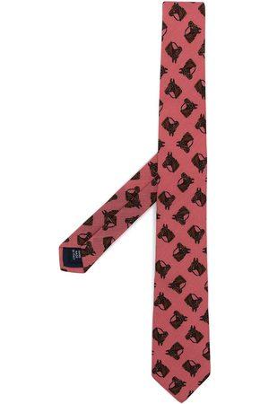 Polo Ralph Lauren Horse head-printed tie