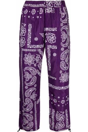 Palm Angels Bandana-print logo trousers