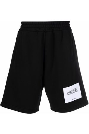 Palm Angels Logo-patch track shorts