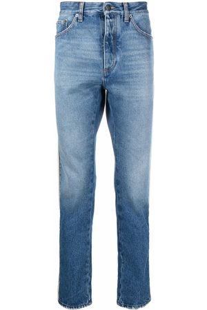 Palm Angels Side-stripe straight-leg jeans