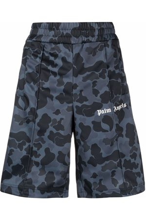Palm Angels Night camouflage print track shorts