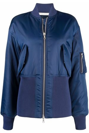 Palm Angels Ribbed-hem bomber jacket