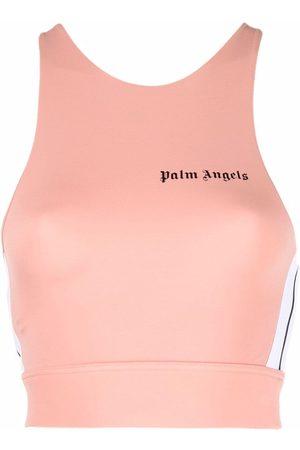 Palm Angels Women Tank Tops - Side-stripe cropped top