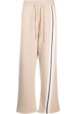 Palm Angels Men Sweatpants - Side-stripe track pants - Neutrals