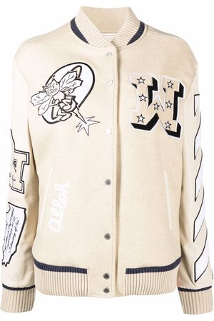 Off-White Patch-detail bomber jacket - Neutrals