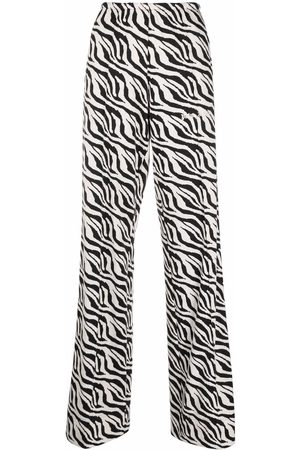 Palm Angels Zebra-print side-stripe trousers