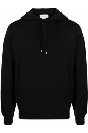 Salvatore Ferragamo Men Hoodies - Long-sleeved cotton hoodie