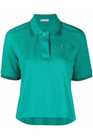 Moncler Embroidered-logo polo shirt