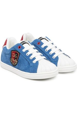 Dolce & Gabbana Kids Logo-patch lace-up trainers