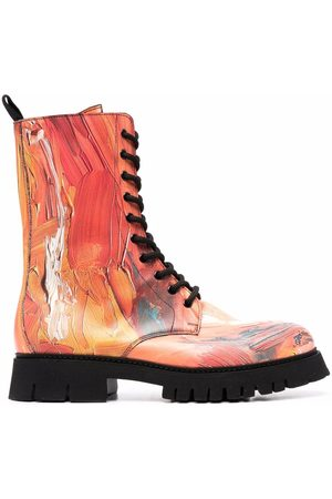 Moschino Men Boots - Abstract-print combat boots