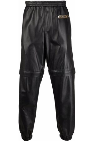 Moschino Tapered leather track pants
