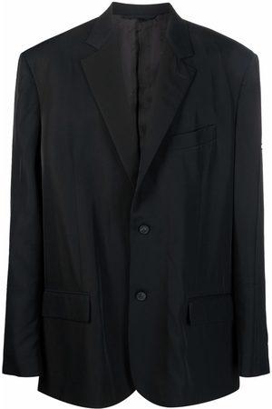 Balenciaga Logo-patch cotton blazer