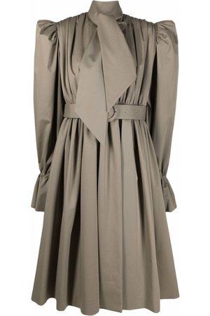 Balenciaga Trench coat-style midi dress - Neutrals