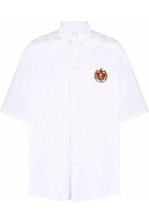 Balenciaga Logo-embroidered button-down shirt