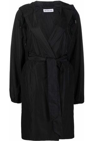Balenciaga Belted hooded raincoat