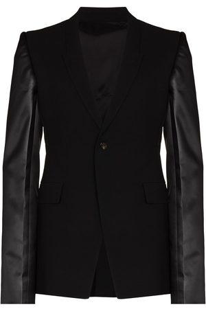 Rick Owens Men Blazers - Sharp contrasting sleeve blazer jacket