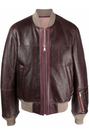 Diesel Zip-pocket leather bomber jacket