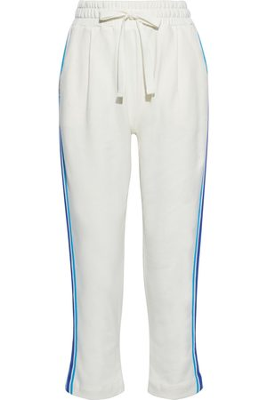 Chinti & Parker Woman Cropped Striped French Cotton-terry Track Pants Size L