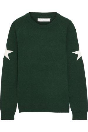 Chinti & Parker Woman Intarsia Wool And Cashmere-blend Sweater Dark Size L