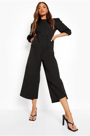 Boohoo Womens Tie Back Culotte Jumpsuit - - 4