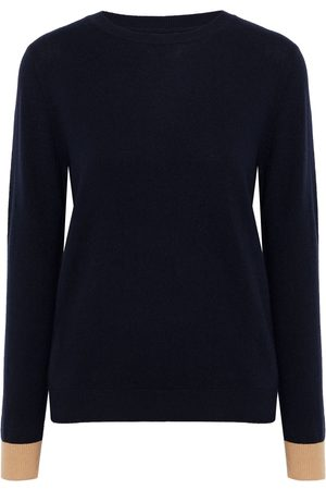 Chinti & Parker Woman Two-tone Wool And Cashmere-blend Sweater Navy Size L