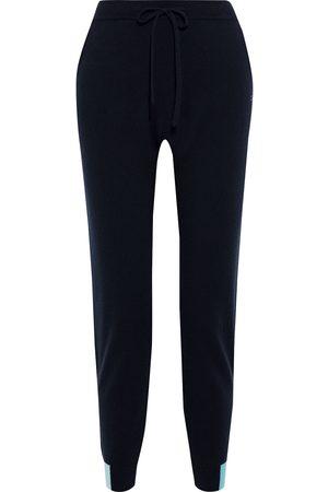 Chinti & Parker Women Sweatpants - Woman Color-block Wool And Cashmere-blend Track Pants Navy Size L