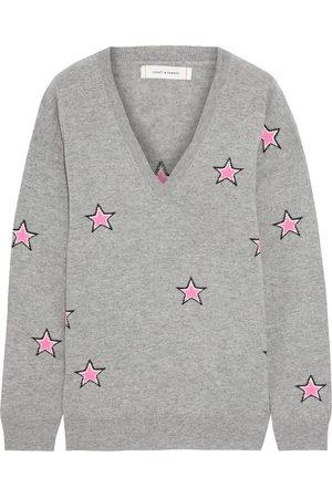 Chinti & Parker Women Sweaters - Woman Intarsia Wool And Cashmere-blend Sweater Light Size L