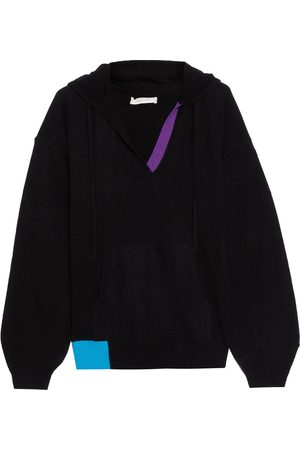 CHINTI & PARKER Woman Color-block Wool And Cashmere-blend Hooded Sweater Size L
