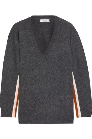 Chinti & Parker Women Sweaters - Woman Striped Wool And Cashmere-blend Sweater Charcoal Size L