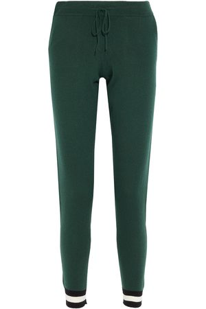 CHINTI & PARKER Woman Striped Wool And Cashmere-blend Track Pants Emerald Size L