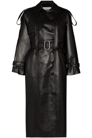 Materiel Long belted trench coat
