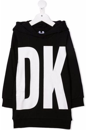 Dkny Kids Logo-print hooded jumper dress