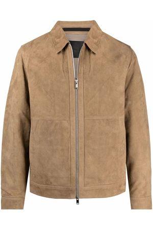 THEORY Leather shirt jacket