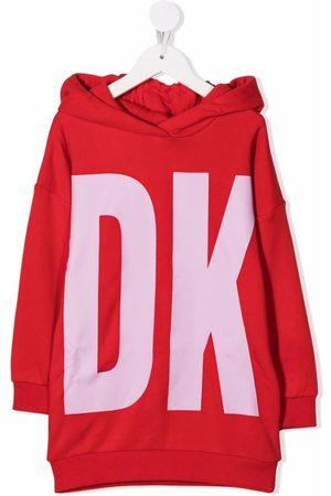 Dkny Kids Logo-print hoodie dress