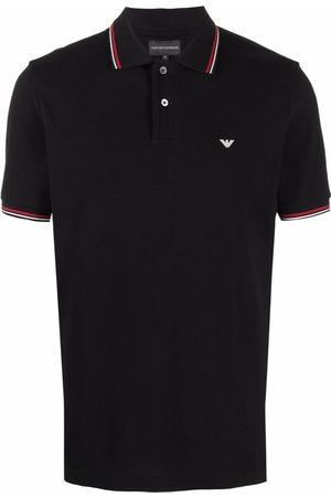 Emporio Armani Men Polo Shirts - Logo-print cotton polo shirt