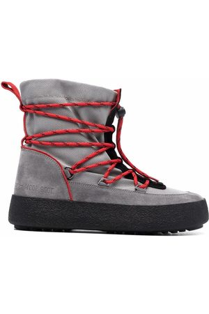 Moon Boot Crossover tie-fastening track boots - Grey