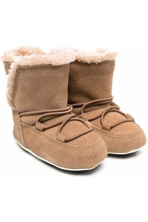 Moon Boot Kids Crib suede-leather mood boots - Neutrals