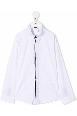 HUGO BOSS Boys Shirts - Embroidered logo poplin shirt
