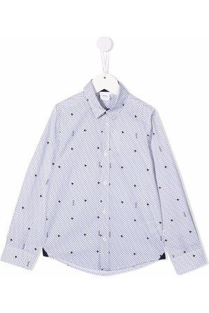 HUGO BOSS Boys Shirts - Star-print cotton shirt